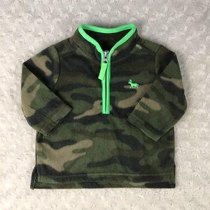 Carter's Fleece Pullover Green Camo Camouflage 3M